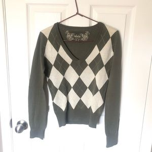 Aritzia Talula Argyle Sweater
